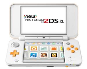 Nintendo New 2DS XL - white and orange