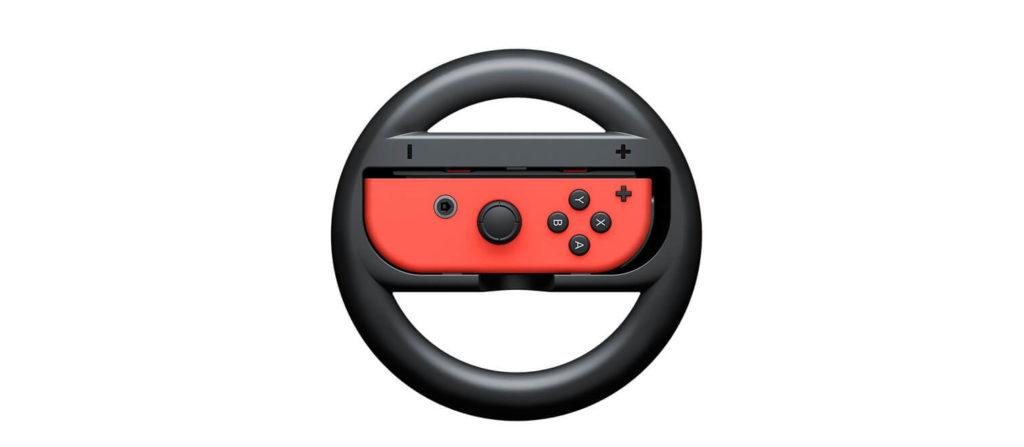 Joy Cons in steering wheel