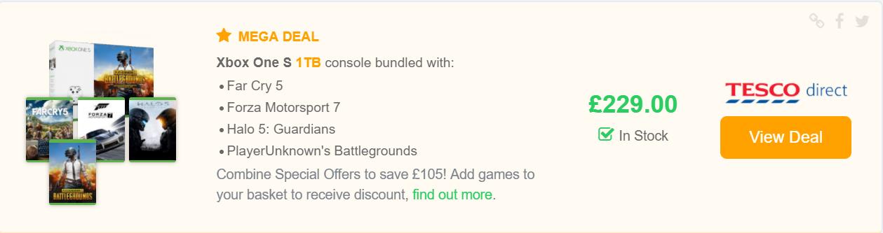 deal listing