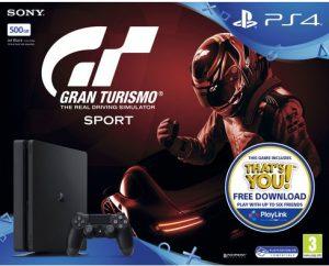 PS4 Gran Turismo Sport 500gb bundle box