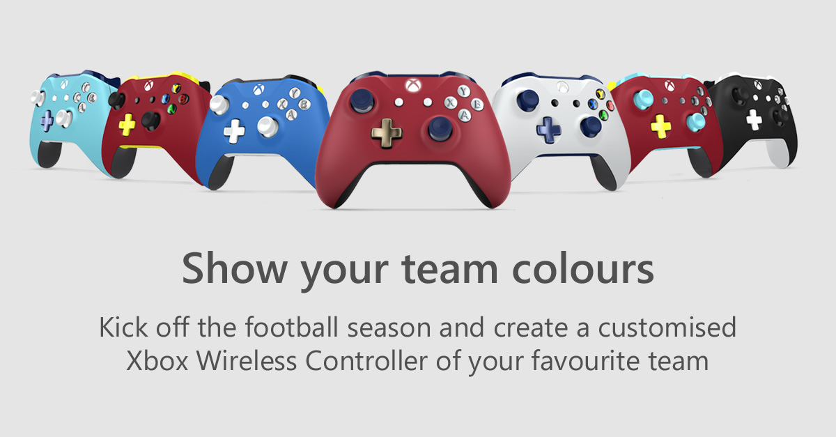 show your colours football themed Xbox One controllers