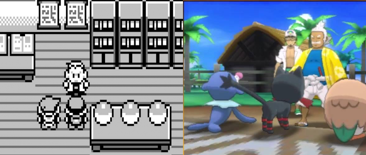 Pokemon Red & Pokemon Moon comparison