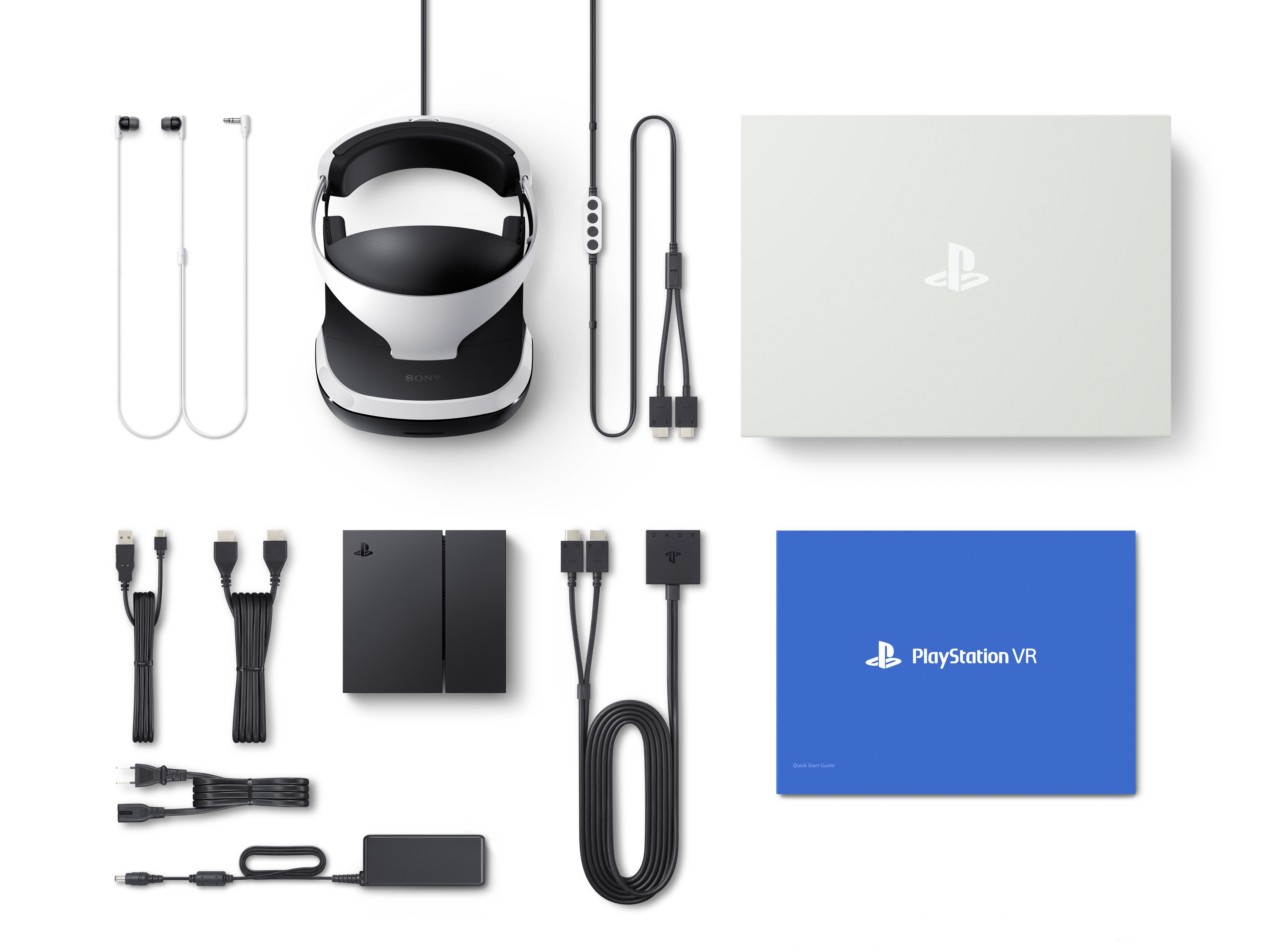 PS VR box contents