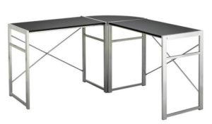 Metal corner desk