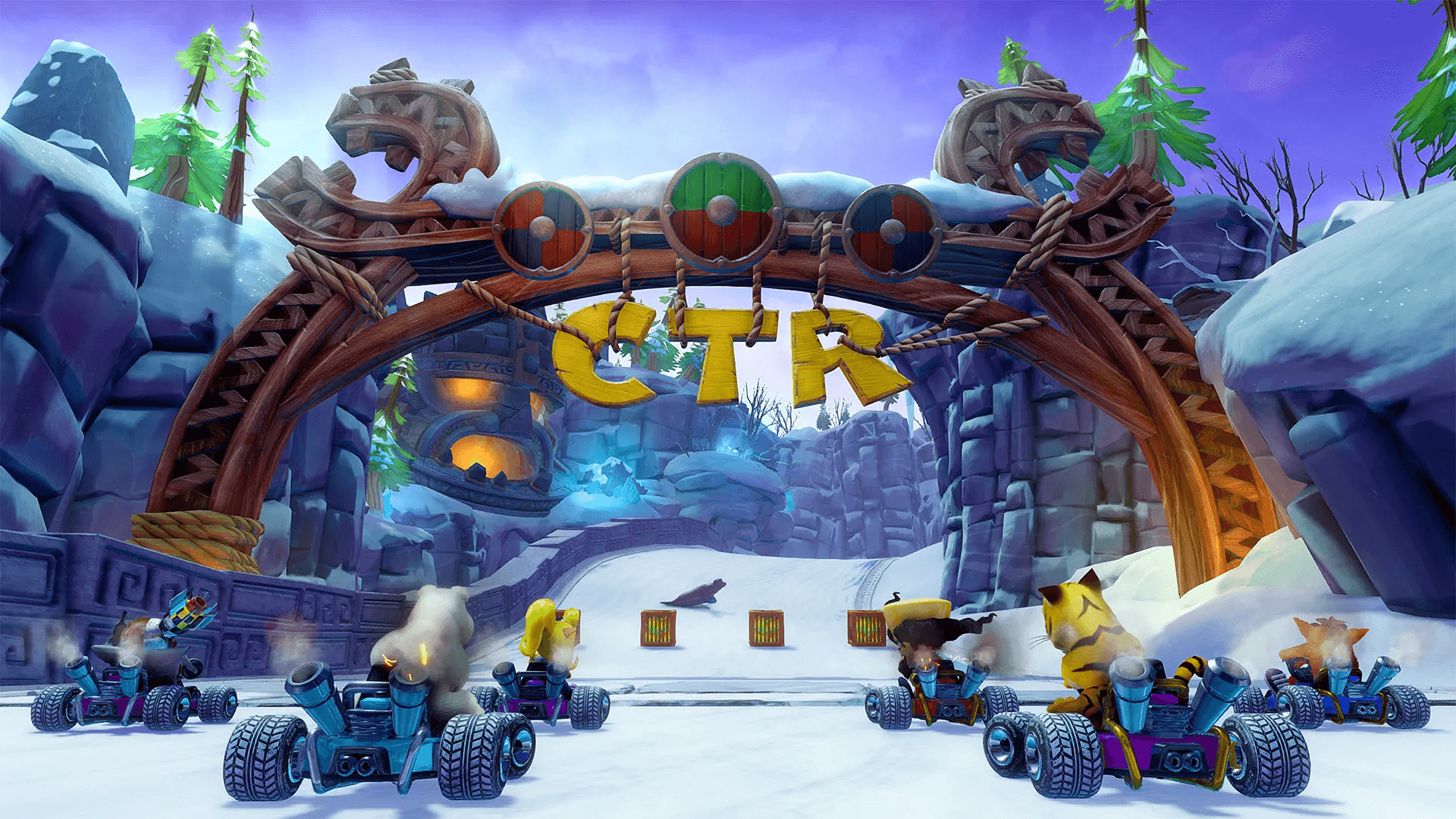 Crash Team Racing starting line