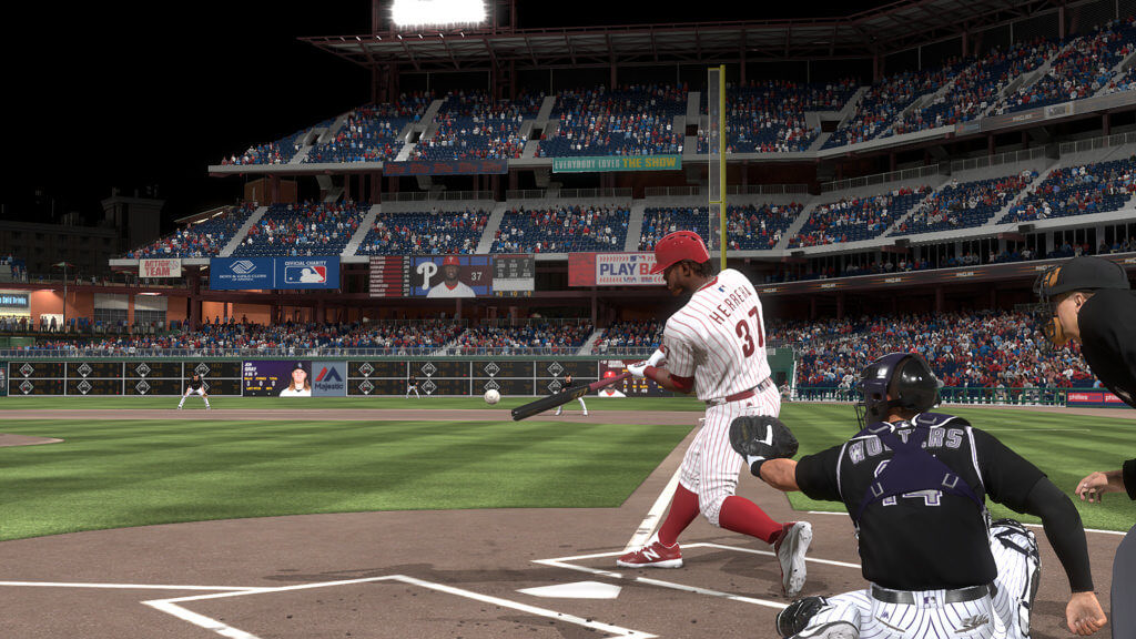 MLB The Show swing