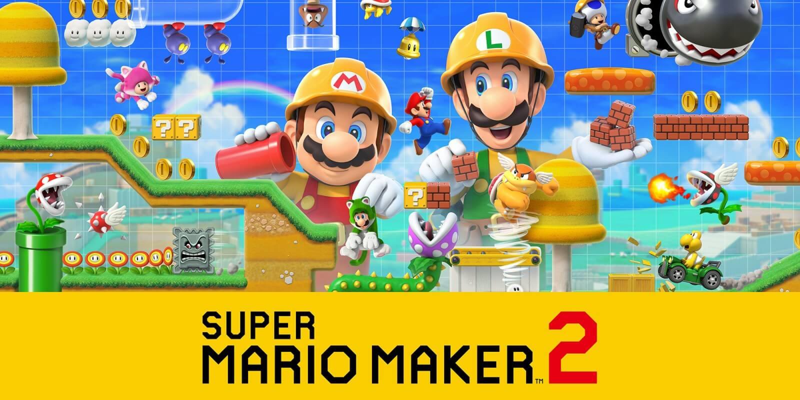uper Mario Maker 2 background