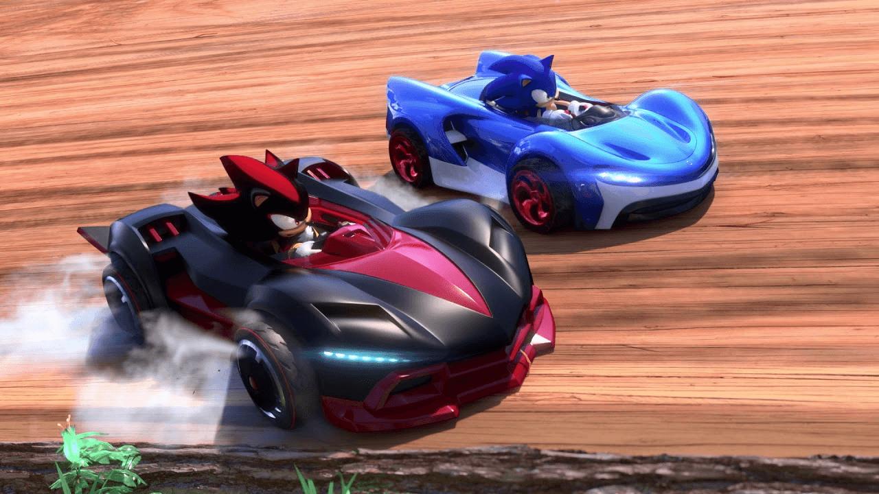Team Sonic racing Shadow and Sonic