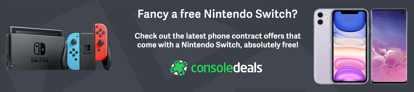 Mobile phone with free Nintendo Switch offers