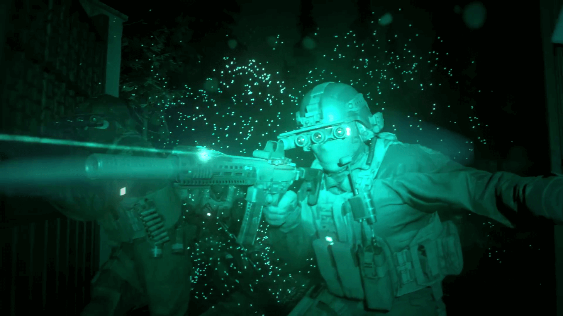 Modern warfare night vision