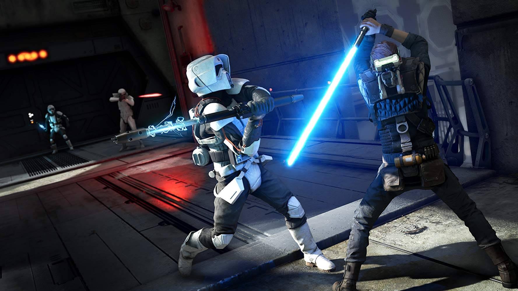 Star Wars Fallen Order lightsaber battle