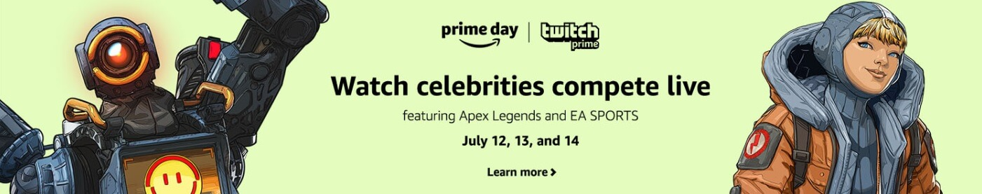 Prime Day Twitch gaming stream banner