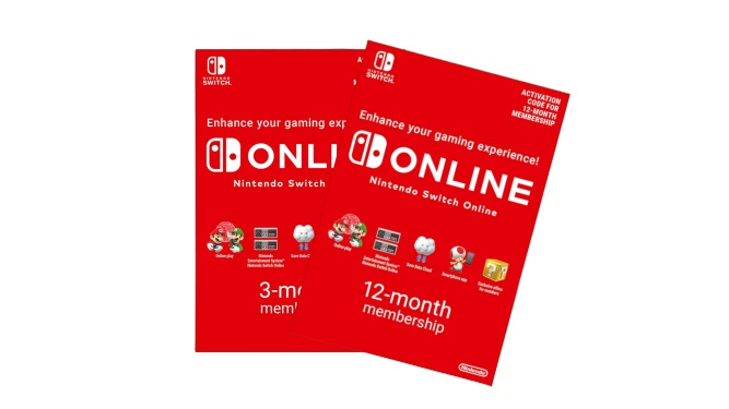 Nintendo Switch Online game cards