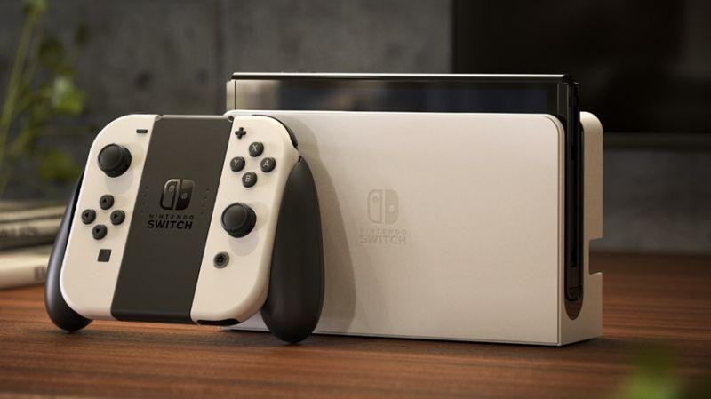 White Nintendo Switch OLED Model
