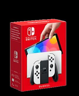 White Nintendo Switch OLED Model box