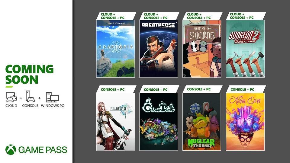 Xbox Game Pass 2021 September