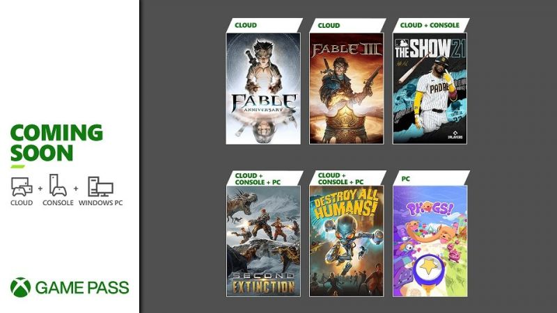 Xbox Game Pass - April 2021