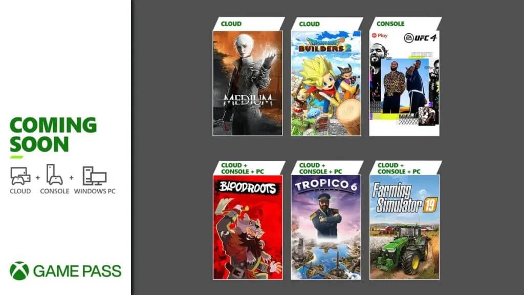Xbox Game Pass July 2021 additions